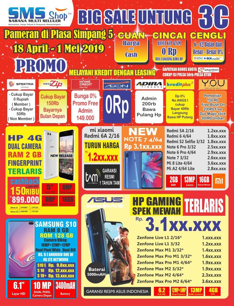 Pameran HP Semarang SMS Shop Plasa Simpanglima 2019