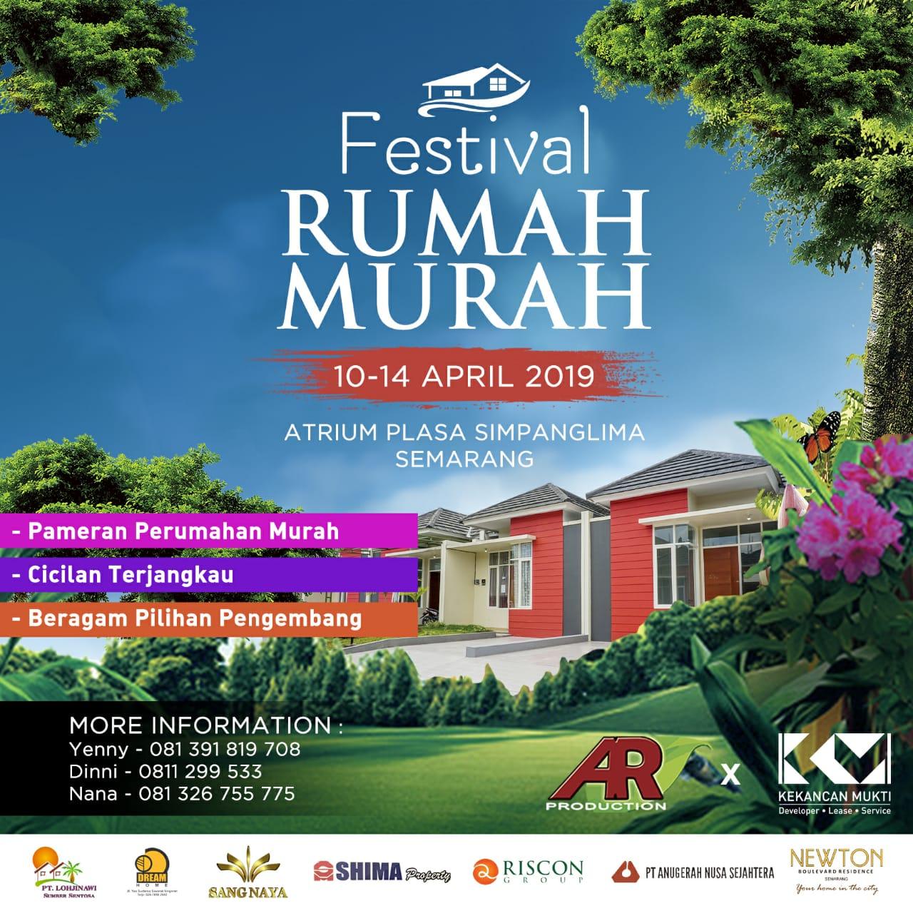 Festival Rumah Murah 10-14 April 2019 Plasa Simpanglima Semarang