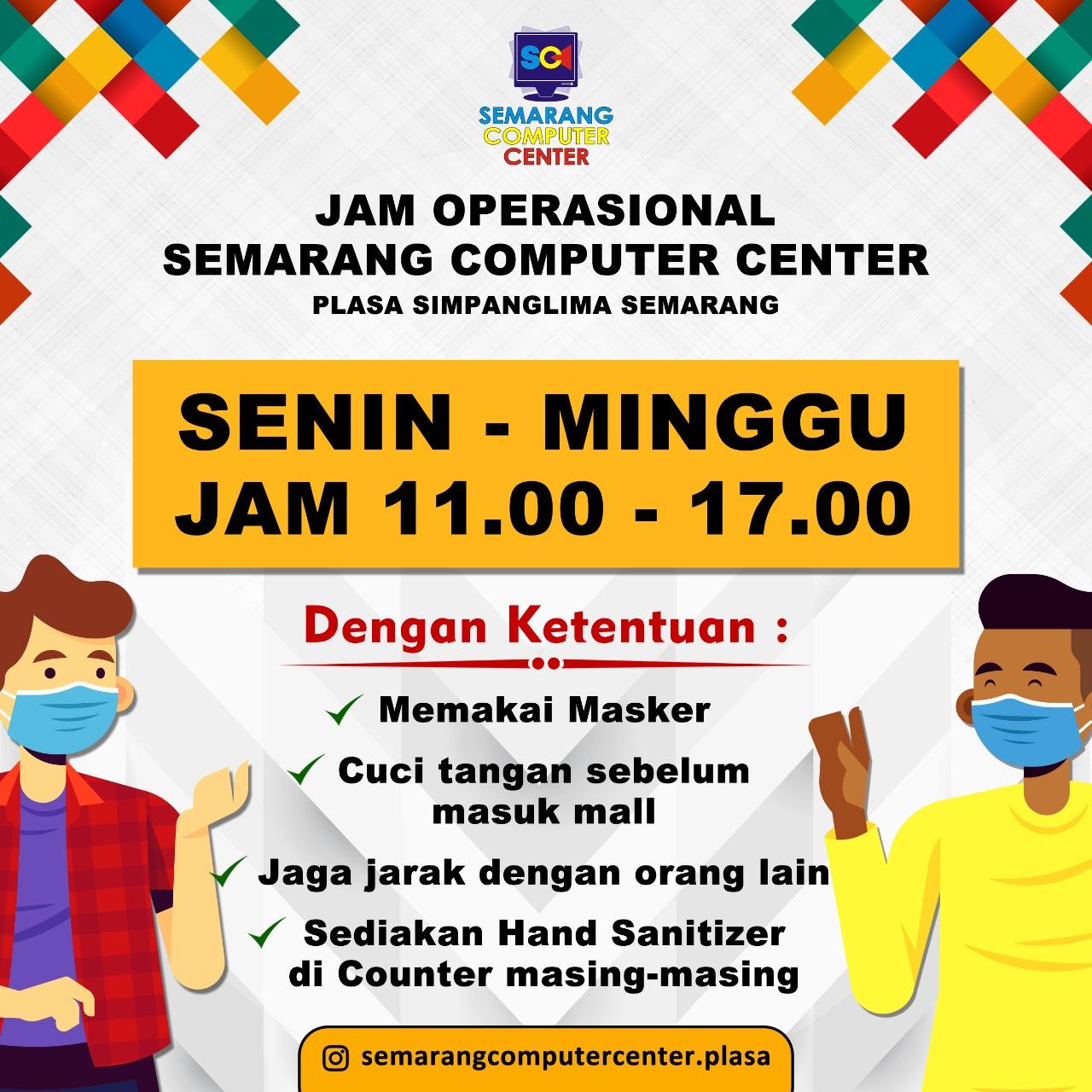 Jam Operasional Semarang Computer Center