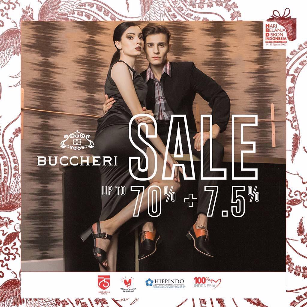 Buccheri Promo Kemerdekaan 2020 Discount up to 70% + 7.5%