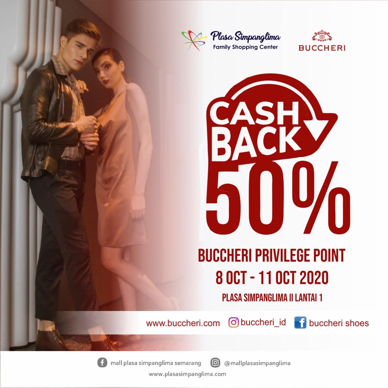BUCCHERI CASHBACK 50%
