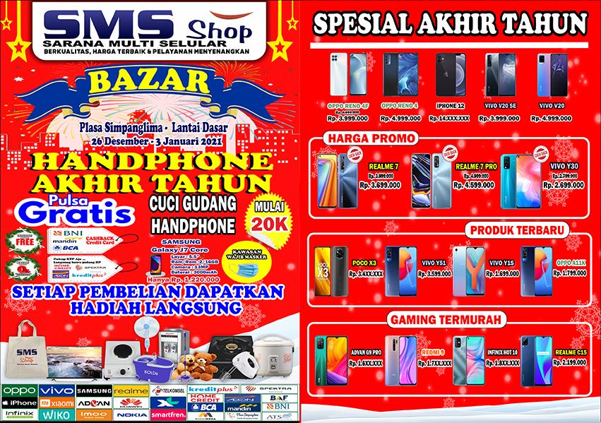 SMS Shop Bazar Handphone Akhir Tahun 2020