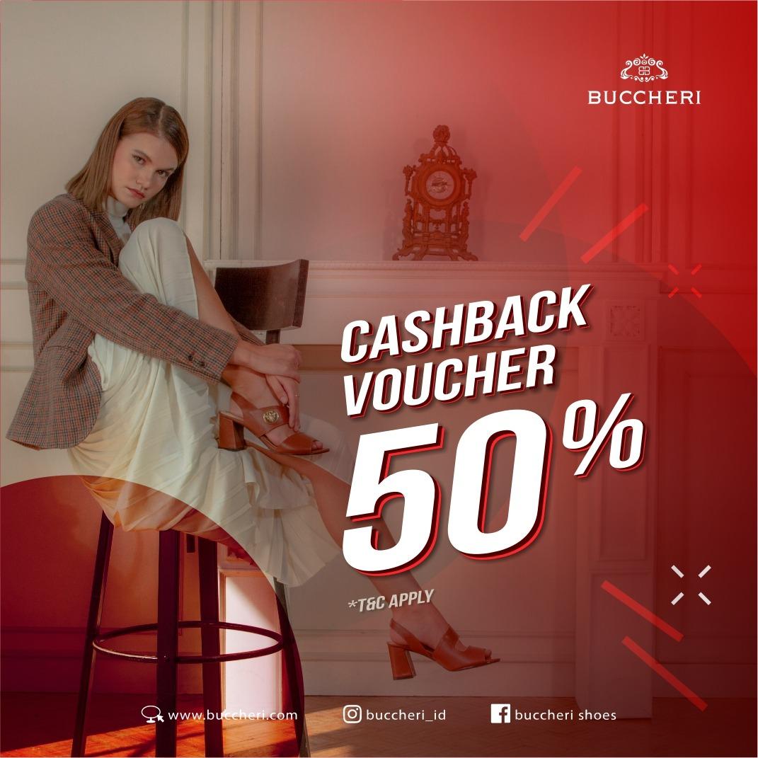 BUCCHERI CASHBACK VOUCHER 50%